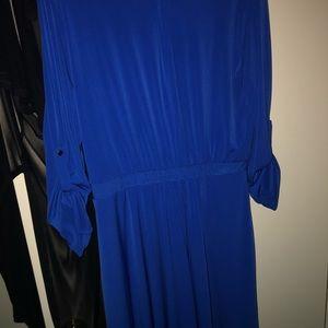Long Sleeve ROYAL Blue Dress